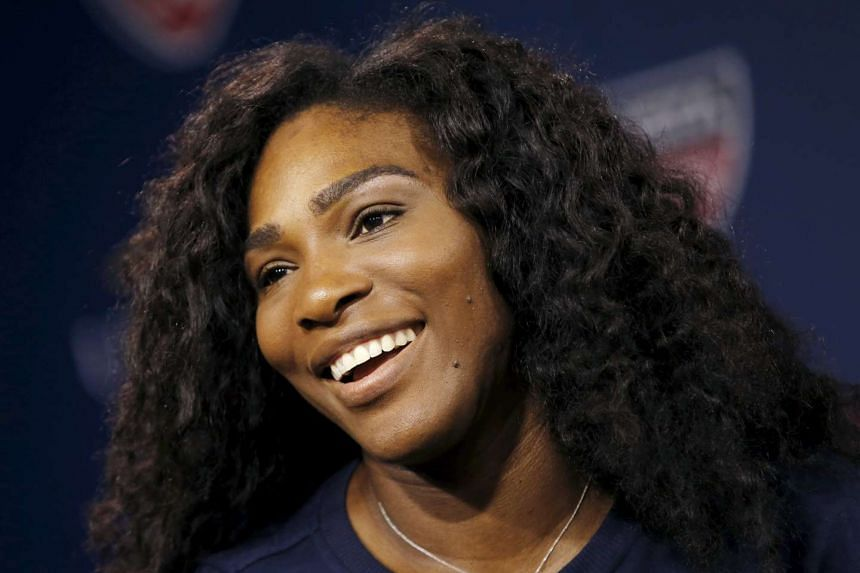 Serena Williams at a news conference ahead of the US Open.