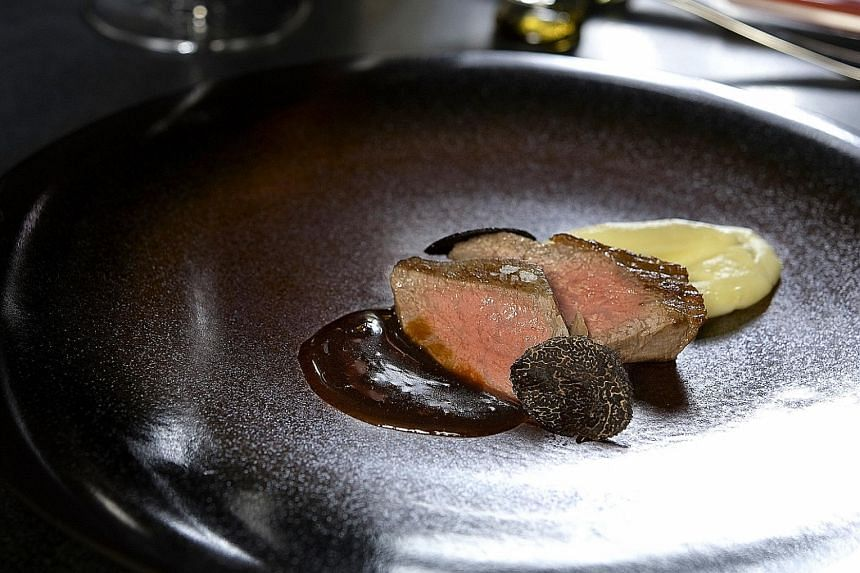Dishes may change daily but you will likely get a course of ozaki wagyu (above) at dinner.