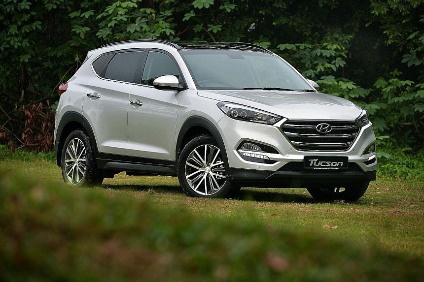 The new Hyundai Tucson is handsomely designed and solidly built.