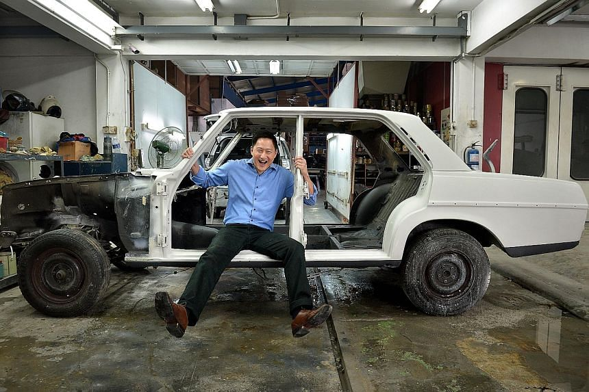 TV host Steven Chia is restoring his 1971 Mercedes 200, which had been corroded by rust.