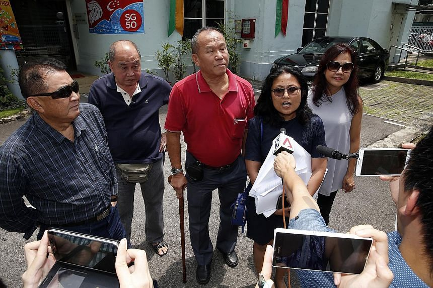 """(From far left) Dr David Tan, Mr Eddie Ng, Mr Eric Seow, Ms Fatimah Akhtar and Ms Soon Siew Tin plan to contest a group representation constituency if they find that the candidates fielded by existing parties are no better than a """"potted plant""""."""