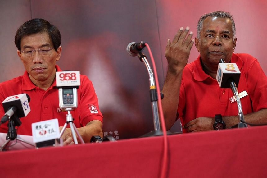 Mr Sadasivam Veriyah (right) has been introduced as a SDP candidate for the upcoming general election.