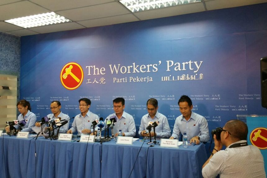 The Workers' Party press conference on Aug 29, 2015.