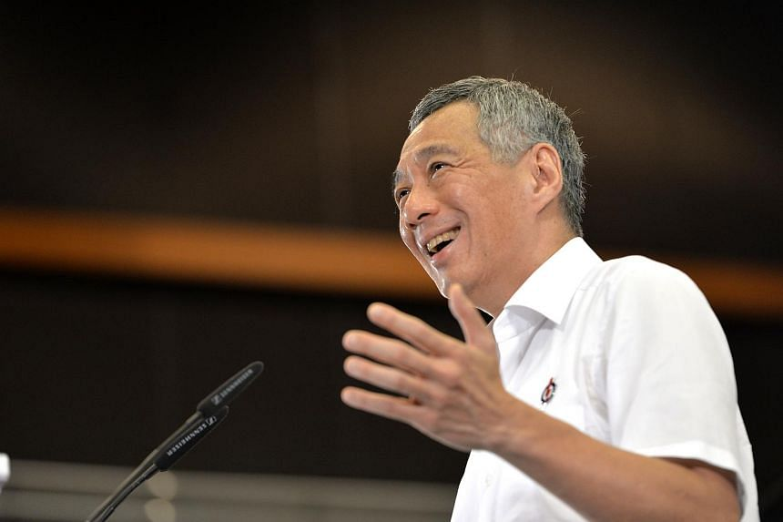 PM Lee speaks to party members at the launch of the PAP 2015 General Election Manifesto on Aug 29, 2015.