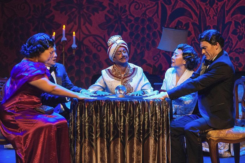 Production images from Wild Rice's two-part play Hotel, part of the 2015 Singapore International Festival of Arts.