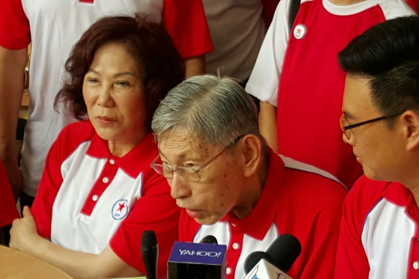 Bishan-Toa Payoh: Mrs Lina Chiam says that Mr Chiam See Tong will not be contesting in this election