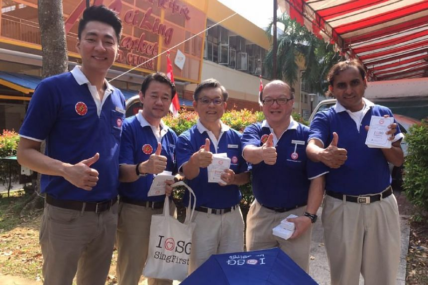 The possible SingFirst team contesting Tanjong Pagar GRC (from left) Mr Melvyn Chiu, Mr Fahmi Rais, Mr Tan Jee Say, Dr Ang Yong Guan and Mr Chirag Desai.
