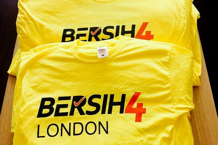 Bersih solidarity events went ahead in cities such as Melbourne (left) and London (below), but the rally was a no-go in Singapore and Thailand.