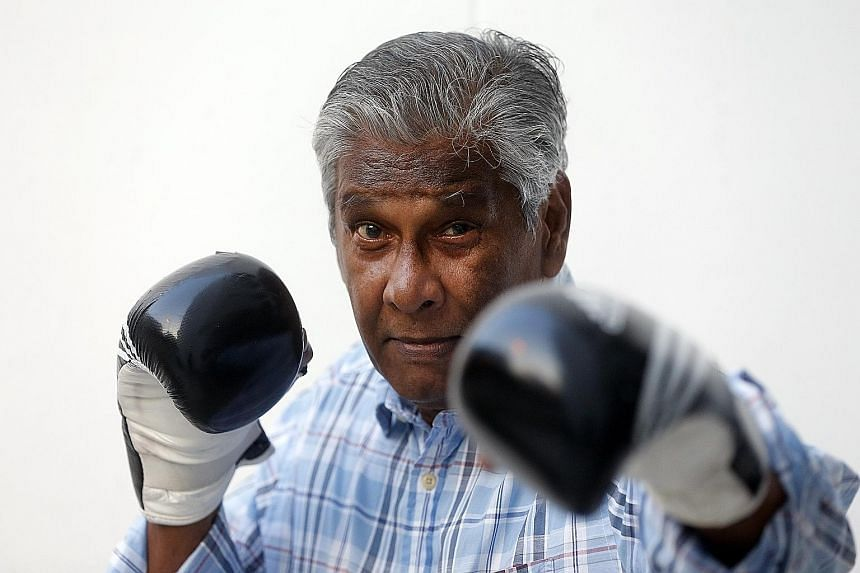 Former Singapore boxing champion Krishnan Gopalan, a silver medallist at the 1959 Seap Games, may have retired but he is still keen to don his gloves again if he finds a match in his age group. The sprightly 74-year-old started boxing when he was jus
