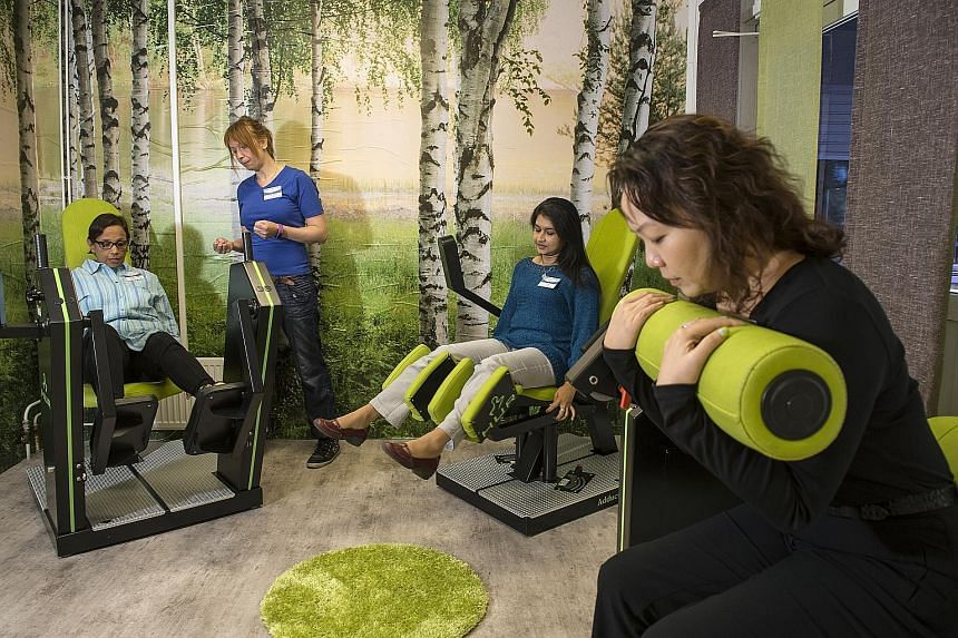 Some of the 10 physiotherapists who were in Finland recently to learn how to use the elder-friendly gym machines and their software. Dr Magnus Bjorkgren, head of the health science unit at Finland's Jyvaskyla University, on how exercise programmes ca
