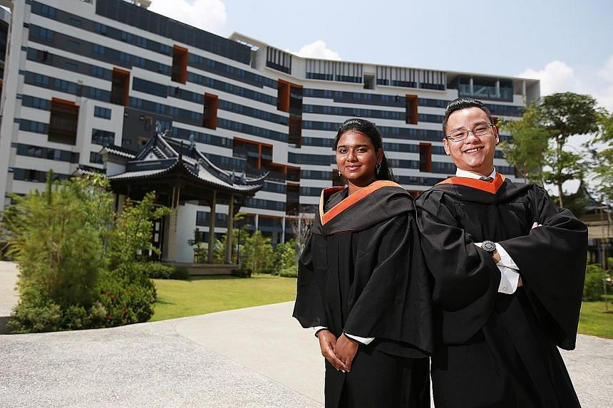 Ms Nivedithaa Palaniappan, who studied engineering systems and design, and Mr Ken Chua, who studied engineering product development, were in SUTD's pioneer batch.