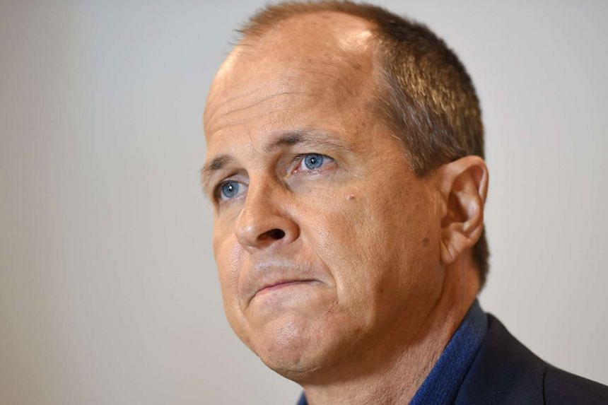 Australian journalist Peter Greste looks on as he answers a question during a press conference in Sydney, Australia on Aug 30, 2015.