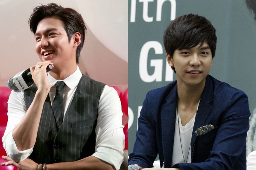 South Korean actors Lee Min Ho (left), Lee Seung Gi (right) and Yoo Ah In are rushing to complete more work before they get enlisted in the South Korean army to serve their duty.