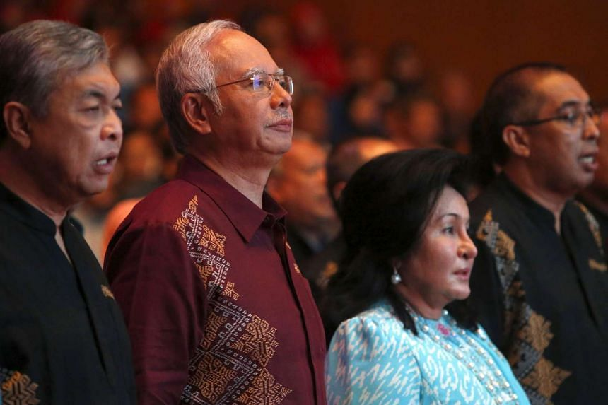 Malaysia's Prime Minister Najib Razak and wife Rosmah Mansor arrives before Najib's National Day speech in the capital city of Kuala Lumpur on Sunday.
