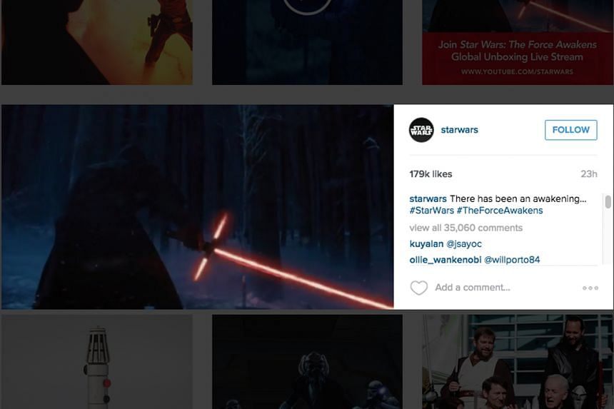 """Instagram fans were excited by the release of a new teaser for star wars: the force awakens, which made use of the social media platform's new landscape mode. The short clip gathered 179,000 """"likes"""" and more than 35,000 comments in less than 24"""