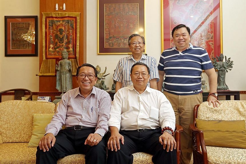 The Woons - (counterclockwise from front) Wee Phong, Tek Seng, Wee Teng and Wee Hao - are united in their passion for fine art, which has spurred them to support bursaries and other programmes for art students.