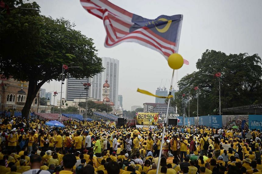 The crowd at the Bersih rally in Merdeka Square in Kuala Lumpur at around 11.30am on Aug 30, 2015.