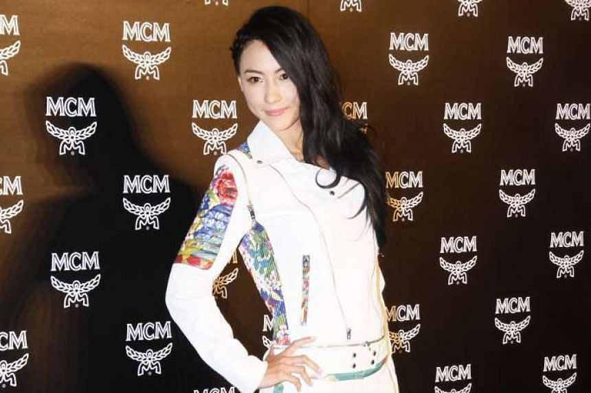 Cecilia Cheung's (above) manager was amused by a report that said the actress forbade her former husband Nicholas Tse to marry Faye Wong in the next three years.