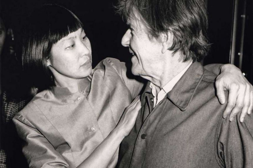 Tan with her mentor, the late American avant-garde composer John Cage (both above), after a concert performance in 1991.