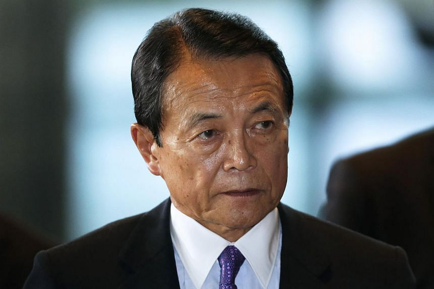 Mr Taro Aso, Japan's re-appointed deputy prime minister and minister for finance and financial services.