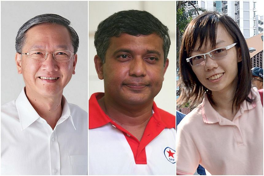In Radin Mas, the PAP incumbent Mr Sam Tan will face off against Mr Kumar Appavoo of the Reform Party and an independent candidate, blogger Han Hui Hui.