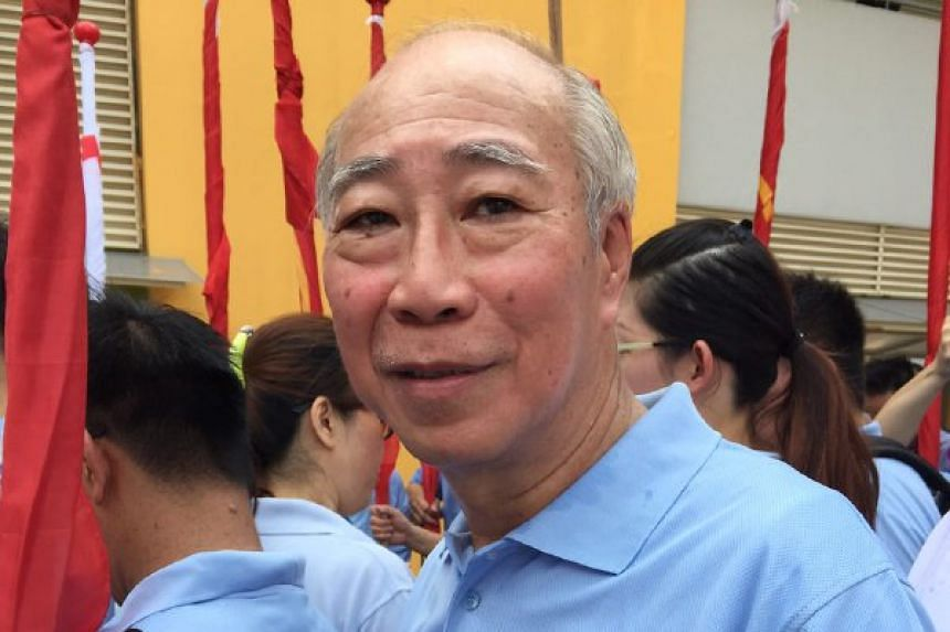 Ex-opposition politician and retiree Kwan Yue Keng, 66 in the crowd of WP supporters at Yishun Primary School.
