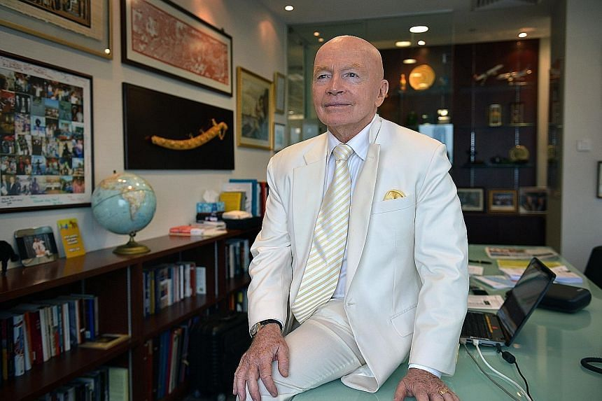 """Dr Mark Mobius, executive chairman of Templeton Emerging Markets Group, expects some recovery in the emerging markets in the next 12 to 18 months, noting that bear markets are relatively short in duration, lasting 14 months on average, """"and go up muc"""