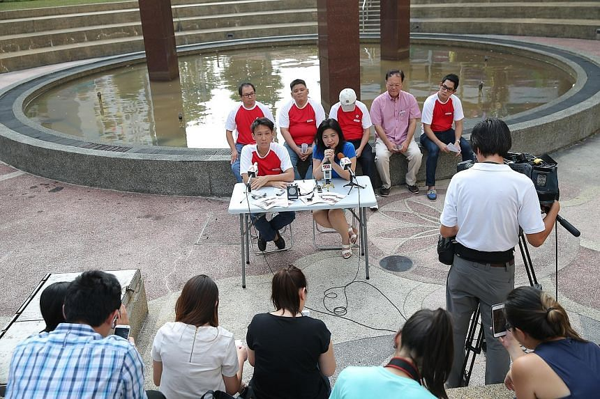 """In launching her manifesto for the Mountbatten ward yesterday, lawyer Jeannette Chong-Aruldoss (seated at table) said that """"it represents my commitment, and belief, and passion, for Mountbatten""""."""