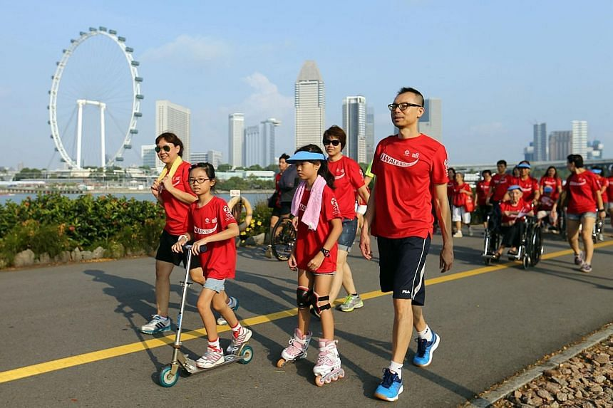 Residents from Marine Parade GRC took a scenic stroll to Gardens by the Bay on Sunday as part of an islandwide event.