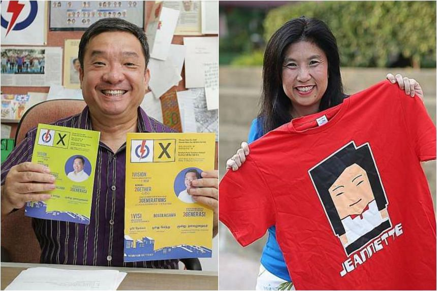 PAP's Mr Sitoh Yih Pin (left) and SPP's Mrs Jeannette Chong-Aruldoss.