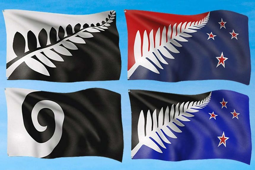 A handout combo picture released by the New Zealand Flag Consideration Panel on Sept 1, 2015 shows the final four designs for a new New Zealand flag.