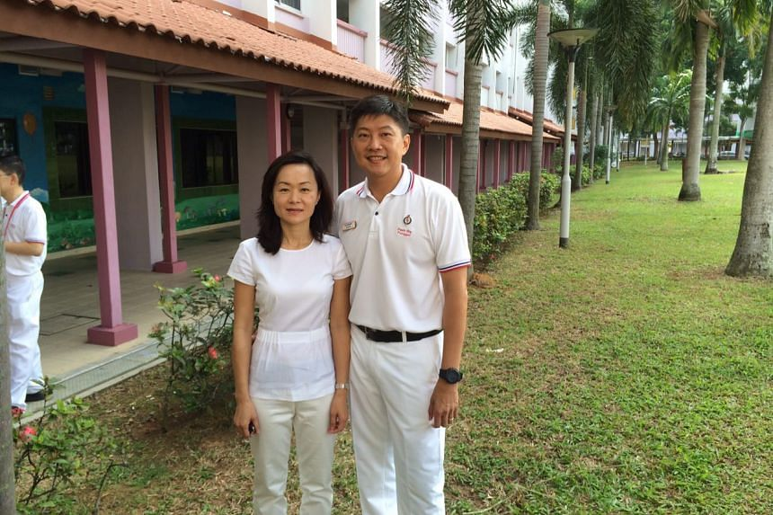 PAP Ng Chee Meng with his wife, Michelle, over at Pasir Ris-Punggol.
