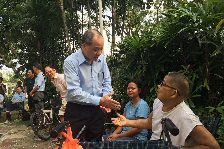 Workers' Party chief Low Thia Khiang at Hougang Town Council.