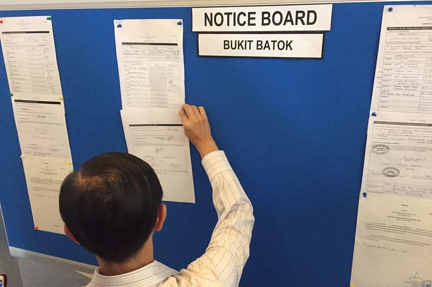 At Bukit Batok SMC, the candidates are the PAP's Mr David Ong, the SDP's Mr Sadasivam Veriyah and independent Samir Salim Neji.