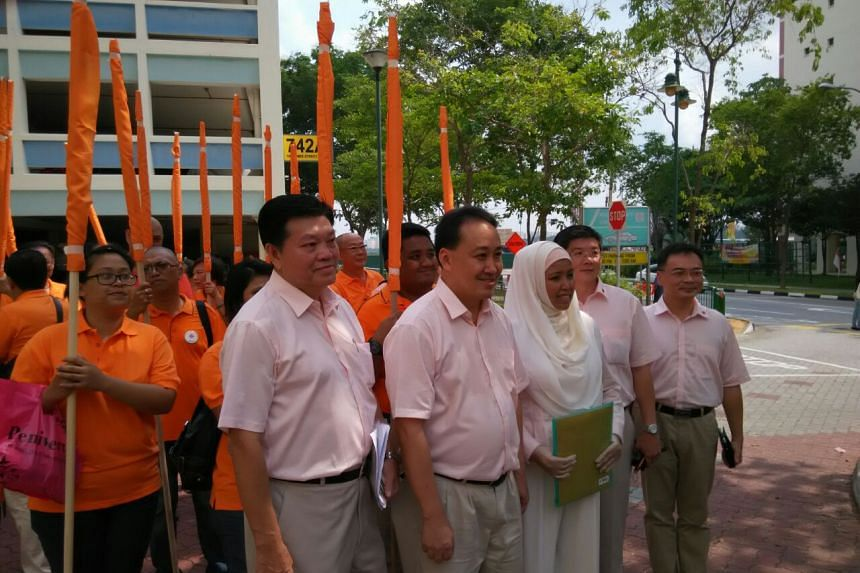 The Tampines GRC team will be led by National Solidarity Party president Sebastian Teo (left).