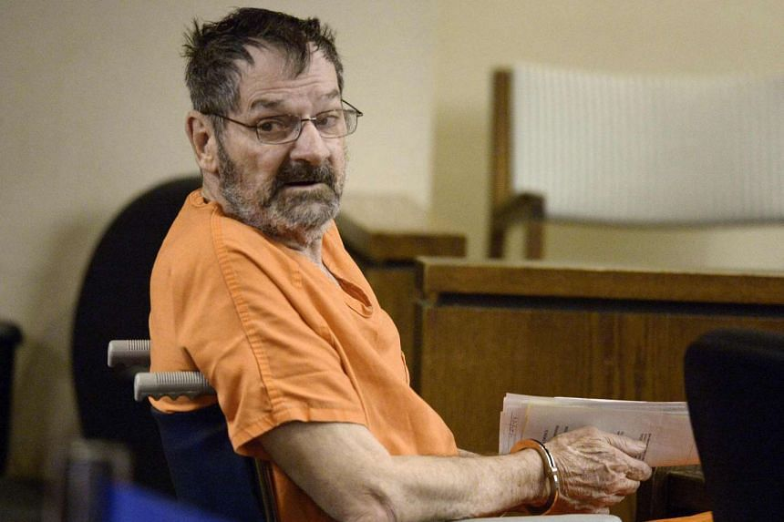 Frazier Glenn Cross Jr, also known as Glenn Miller, sits in a Johnson County courtroom for a scheduling session in Olathe, Kansas, in this file photo taken on April 24, 2014.