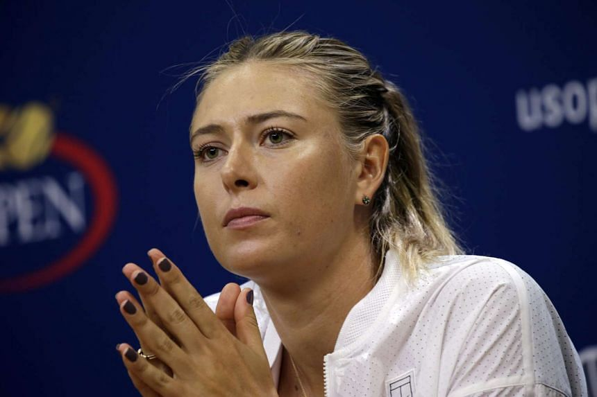 Maria Sharapova at the USTA Billie Jean King National Tennis Center for the US Open Media Day in Flushing Meadows, in New York, USA on Aug 29, 2015.