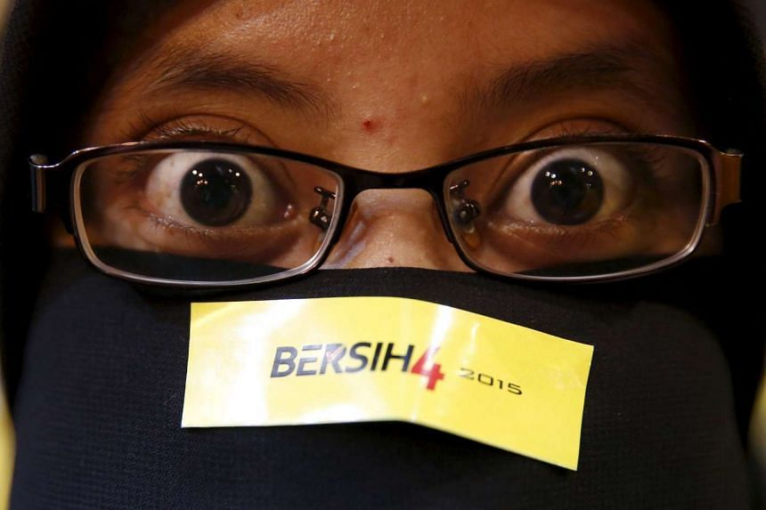 Events in the region such as the Bangkok blast and the Bersih movement (above)  in Malaysia are making Asia unattractive to global investors.