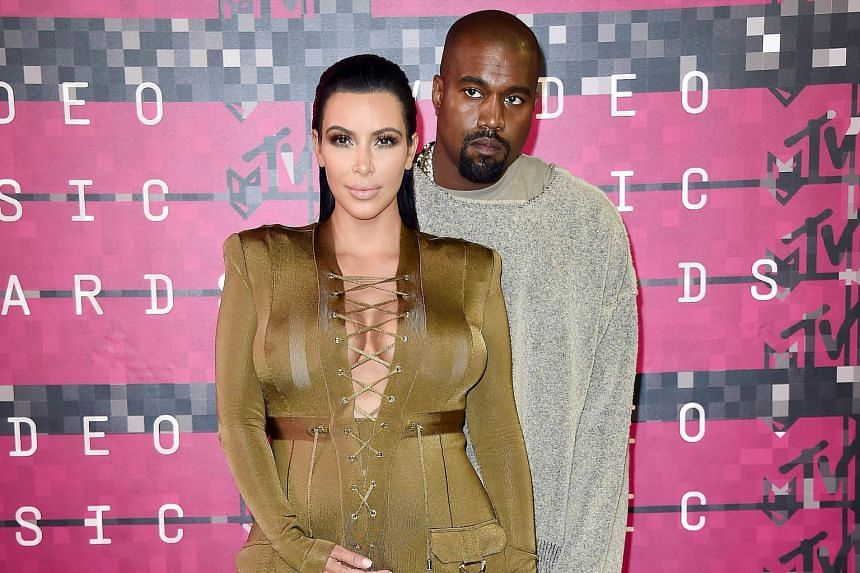 The speech about running for US presidency in 2020 by Kanye West (left, with wife Kim Kardashian) has sparked satirical memes on social media.