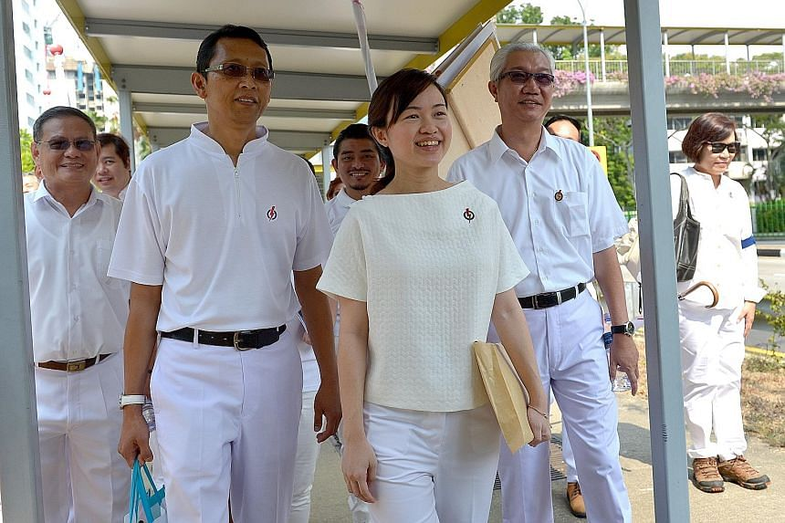 Far left: PAP's Ms Tin Pei Ling says she is ready for the fight as her team has been in MacPherson over the years. Above: Workers' Party's Mr Bernard Chen is a newcomer to the General Election. Left: NSP's Mr Cheo Chai Chen's appearance at the nomina