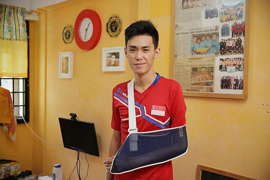 For now, Azreen Sairudin just wants a full recovery. Next month, he will go for what he hopes will be a final operation to treat his left elbow.