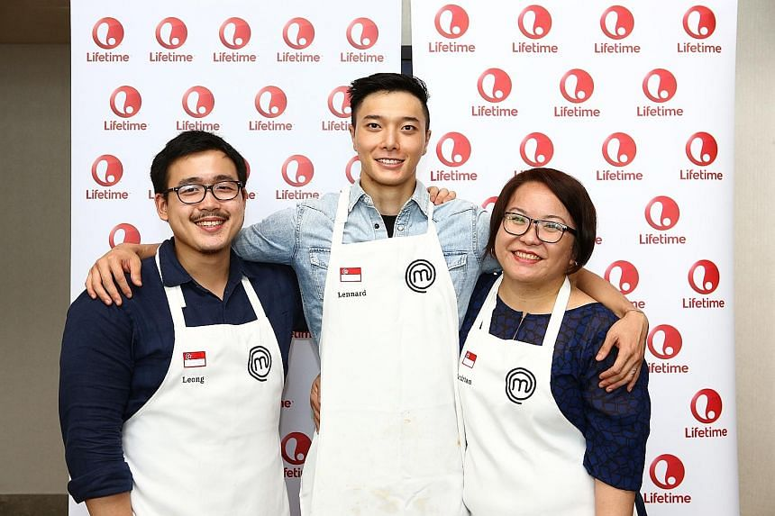 The contestants from Singapore are (from far left) Mr Woo Wai Leong, Mr Lennard Yeong and Ms Sandrian Tan.