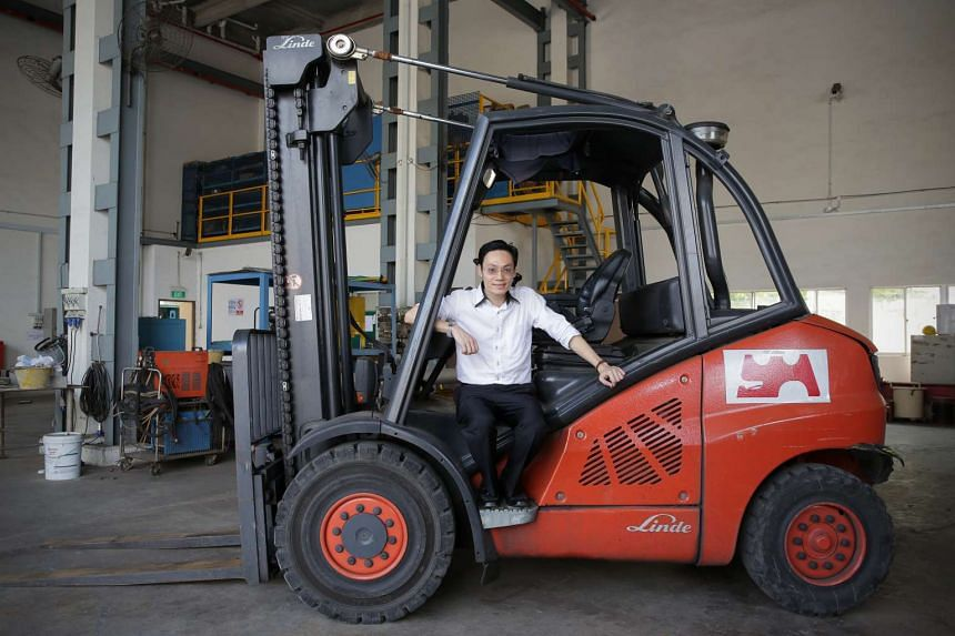 Mr Vincent Lim, 36, HR and administration manager of Yeo Hong Construction and Engineering, spoke about the company's experience in attaining the ISO 50001 certification.