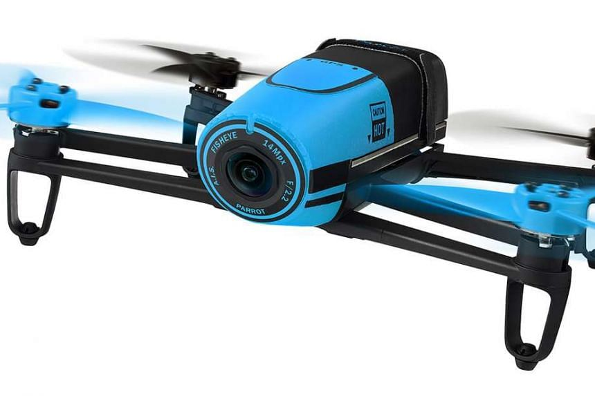 The Bebop's downward-angled camera has a digital tilt feature to take images at varying angles, but cannot take full top-down images.