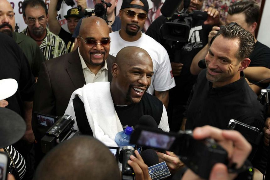 Floyd Mayweather (above) says he is going into movies after his last fight against Andre Berto on Sept 12.