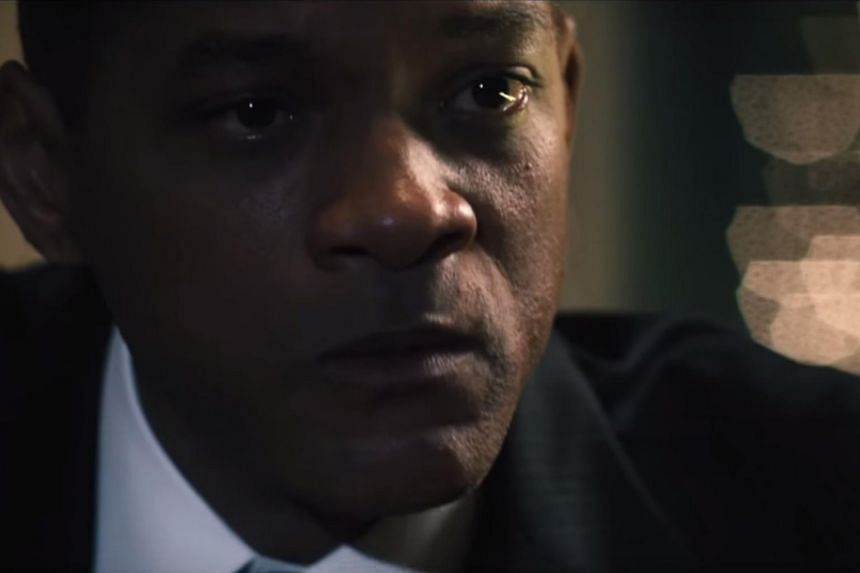 Screengrab from the trailer of Concussion, starring Will Smith.