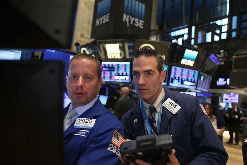 Traders work on the floor of the New York Stock Exchange on Sept 1, 2015 in New York City.