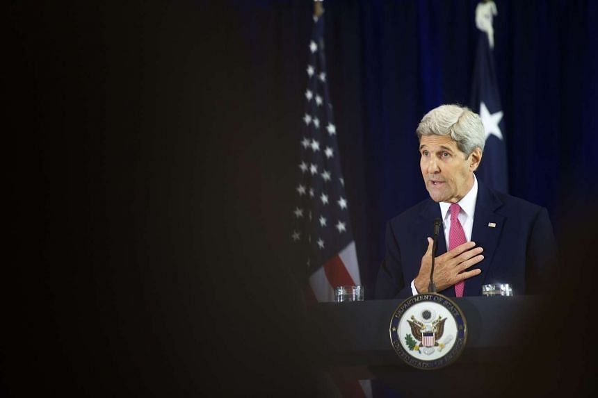 US Secretary of State John Kerry delivers a speech on the nuclear agreement with Iran at the National Constitution Center on Sept 2, 2015 in Philadelphia.