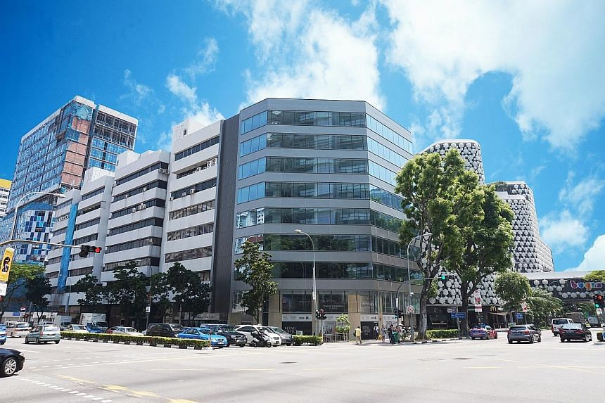 A 35-storey office building in Robinson Road (above) and The Prospex (left) in Middle Road, both in prime areas, are expected to attract keen interest.