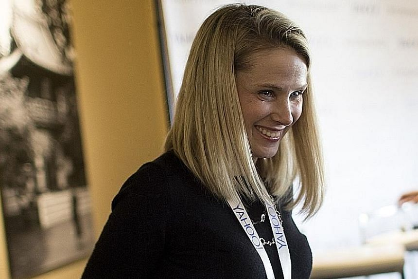 (Left) Yahoo chief Marissa Mayer's announcement that she does not intend to take much time off for her pregnancy highlights the ambiguous message from the top even as some companies are offering more generous paid leave. (Above) Ms Lauren Edelmeier,